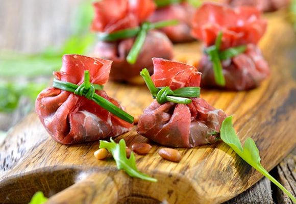 Fagottini di Carne salada con ricotta