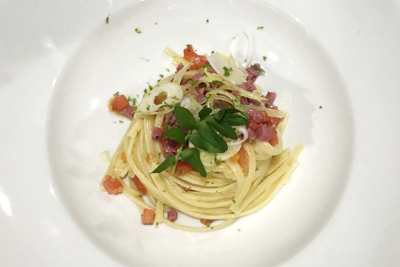 linguine with Carne Salada ragout